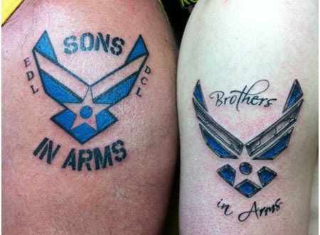 brothers in arms tattoo designs