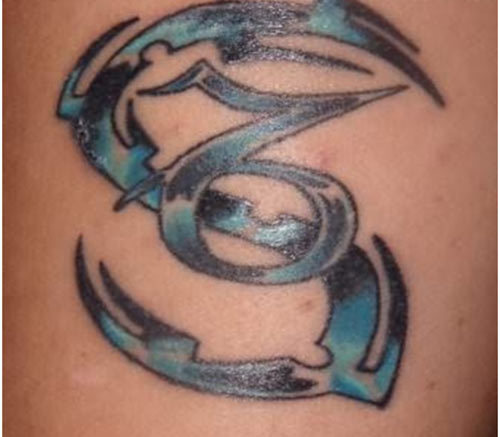 capricorn name tattoo