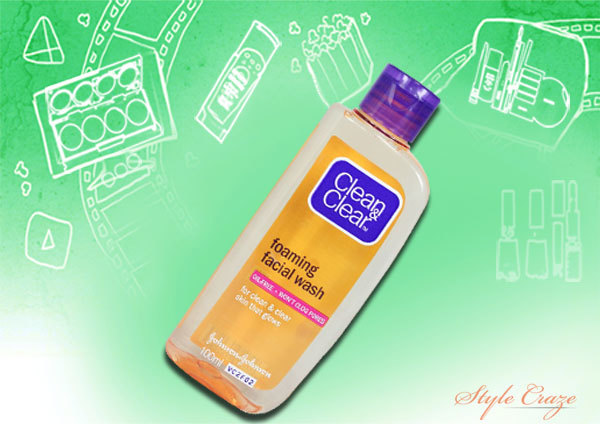 clean and clear foaming facial wash
