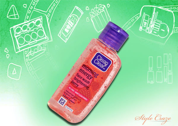 clean and clear morning energy brightening berry face wash
