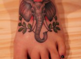 elephant foot tattoo