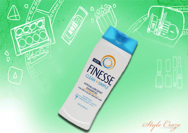 finesse clean & simple hypoallergenic shampoo