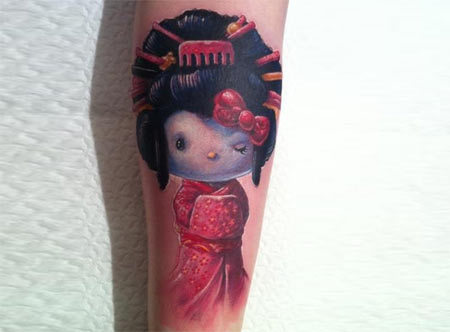 geisha doll tattoo