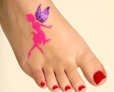 glitter fairy tattoos