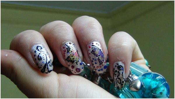 glitter polish tips