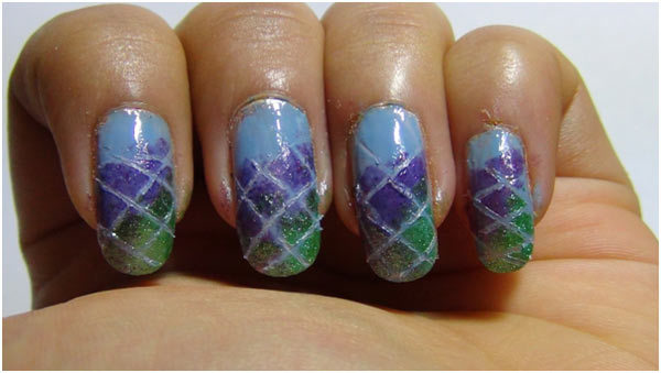 Gradient Nail Art - Step 5: Remove Striping Tapes