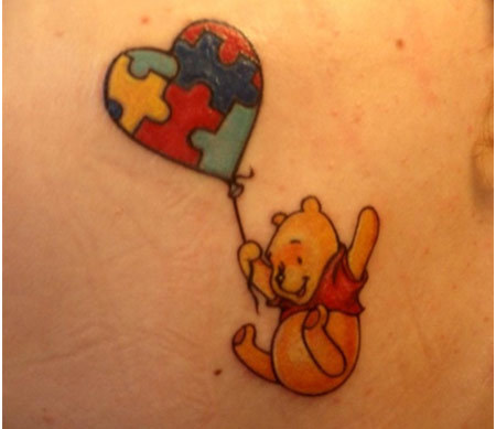 heart shaped balloon tattoo
