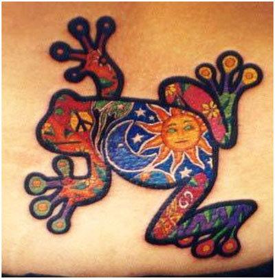 japanese frog tattoo