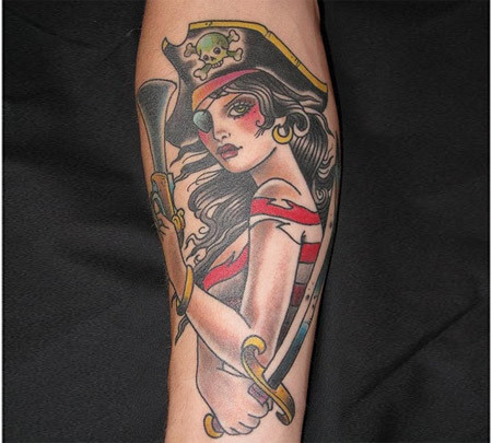 lady pirate tattoo