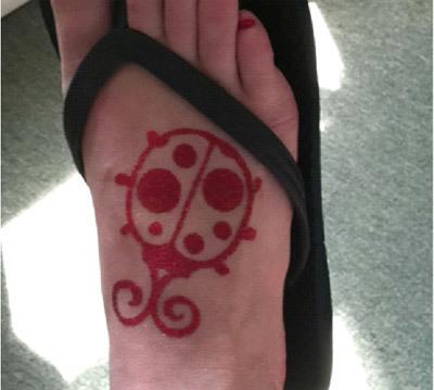 ladybug glitter tattoos