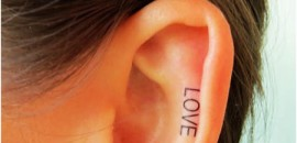 love ear tattoo