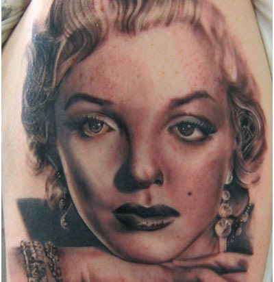 marilyn monroe portrait tattoo
