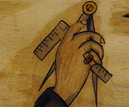 masonic compass tattoo
