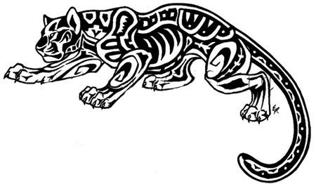 mayan jaguar tattoo