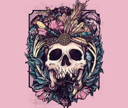 mayan skull tattoo