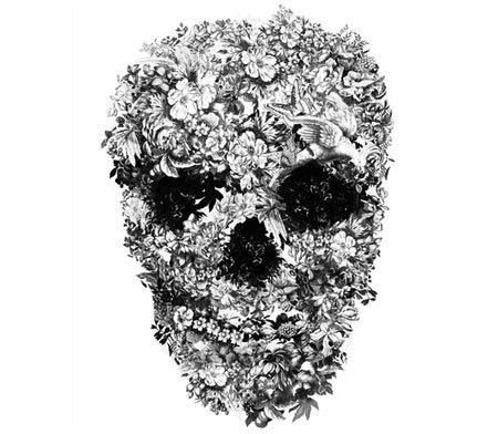 mexican flower skull tattoos
