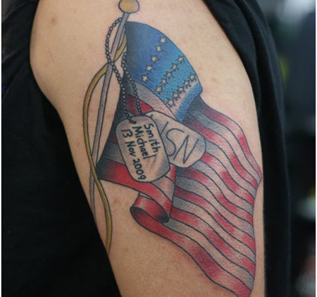 military flag tattoo