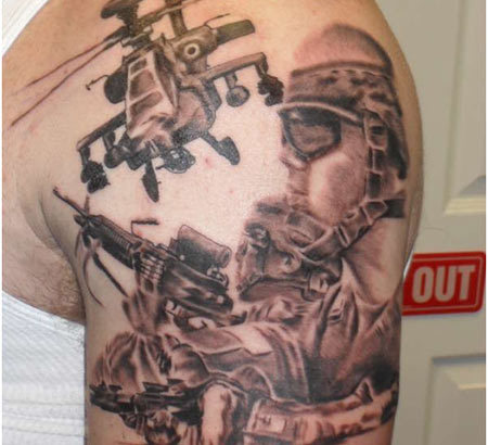 military helicopter tattoo