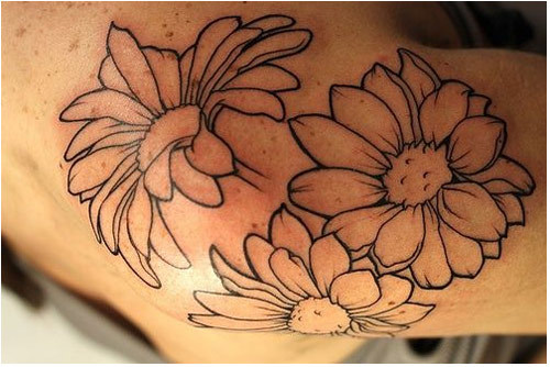 multiple daisies tattoos designs