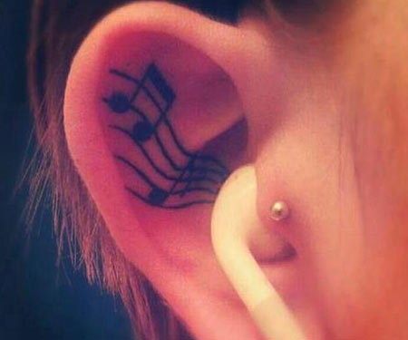 15 Excellent Musical Tattoo Designs
