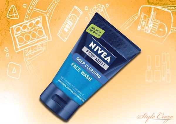 nivea men deep cleansing face wash