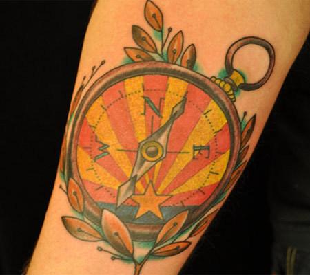 olive leaves tattoo