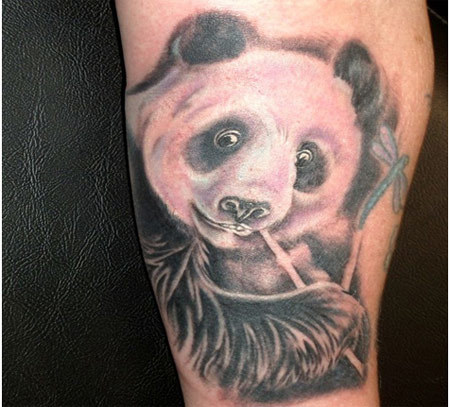 panda with bamboo tattoo