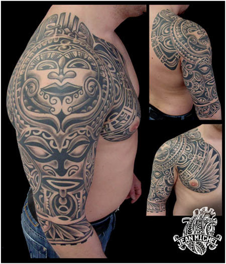 polynesian tiki god tattoos