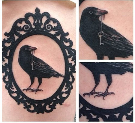 raven key tattoo