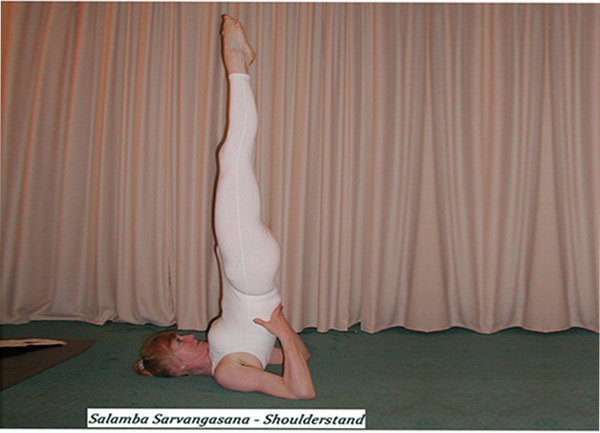 salamba sarvangasana yoga pose - Hatha Yoga