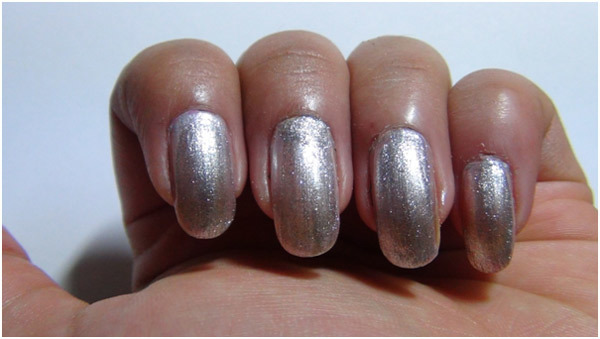 Silver Nail Art Tutorial - Step 2: Apply Silver Nail Polish