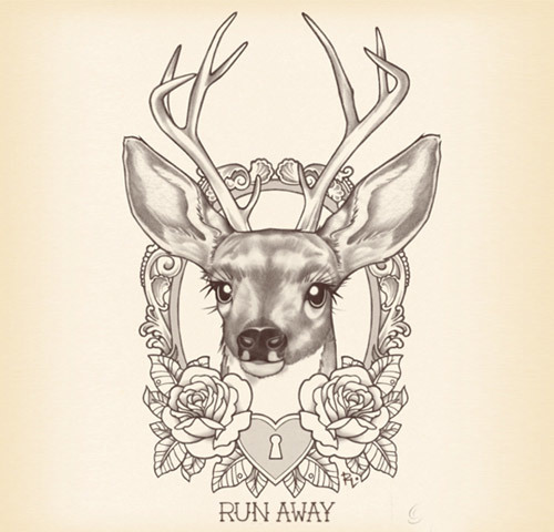 simple deer tattoos