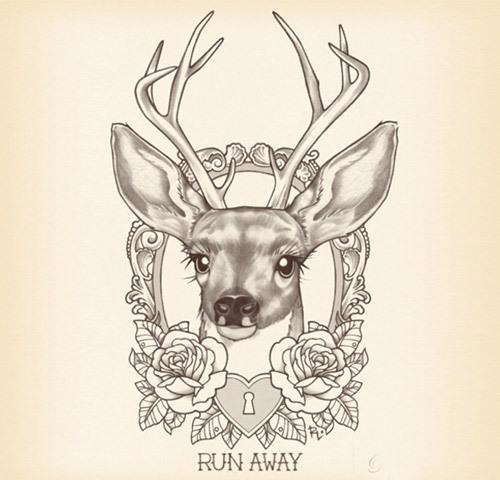 simple deer tattoos