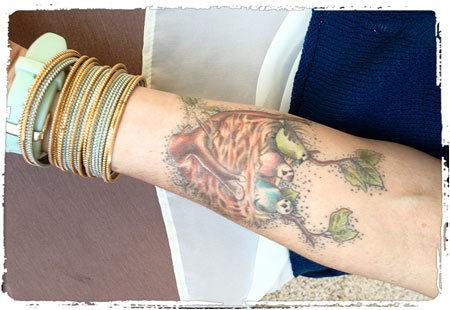single bird tattoo