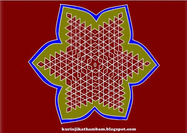 star rangoli designs