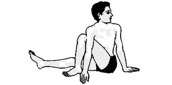 vakrasana pose - Hatha Yoga