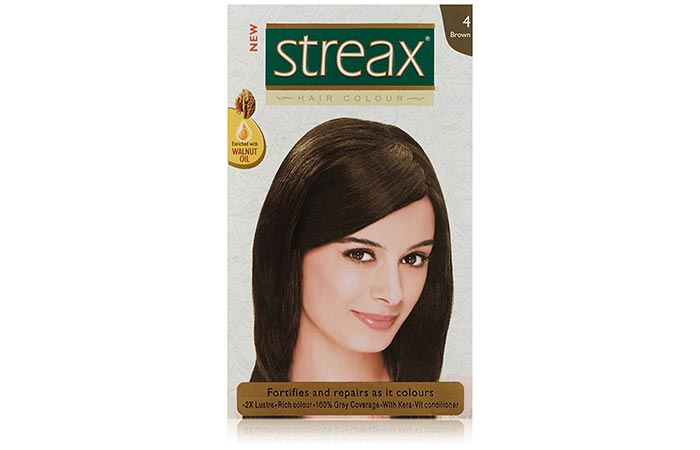 1. Streax Brown 4 Hair Colour