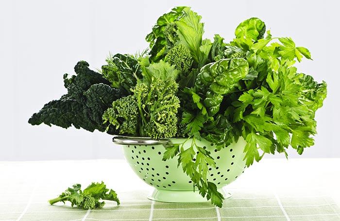 Diet for Dry Skin - Dark Leafy Greens