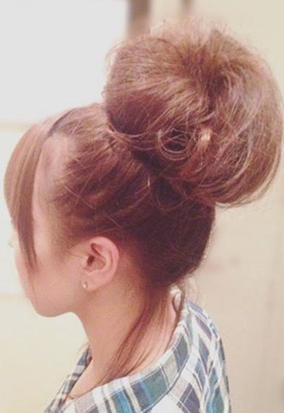 Top 30 hairstyles to cover up thin hair 15 doughnut top bun pmusecretfo Image collections