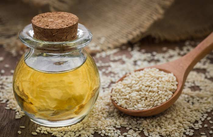 2. Sesame Oil And Bhringraj Oil For Hair Growth