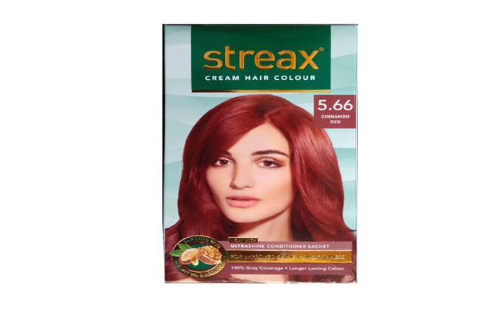 2. Streax Int.Red 5.66 Hair Colour