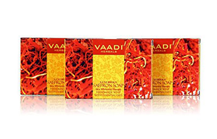 2. Vaadi Herbals Luxurious Saffron Soap Skin Whitening Therapy