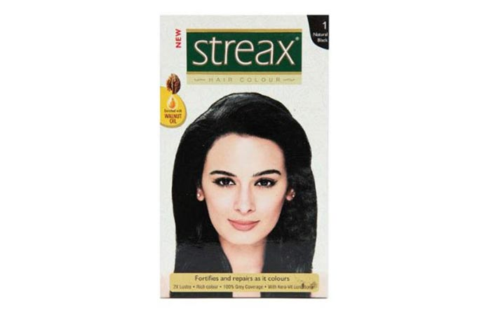 3. Streax Hair Colour – Natural Black No. 1