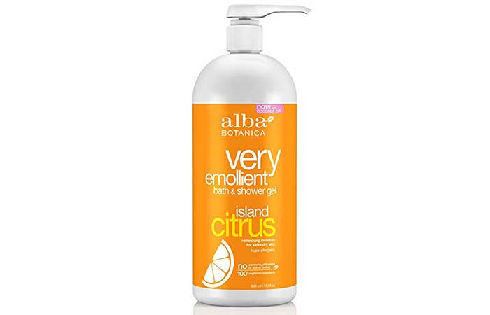 4. Alba Botanica Island Citrus Shower Gel