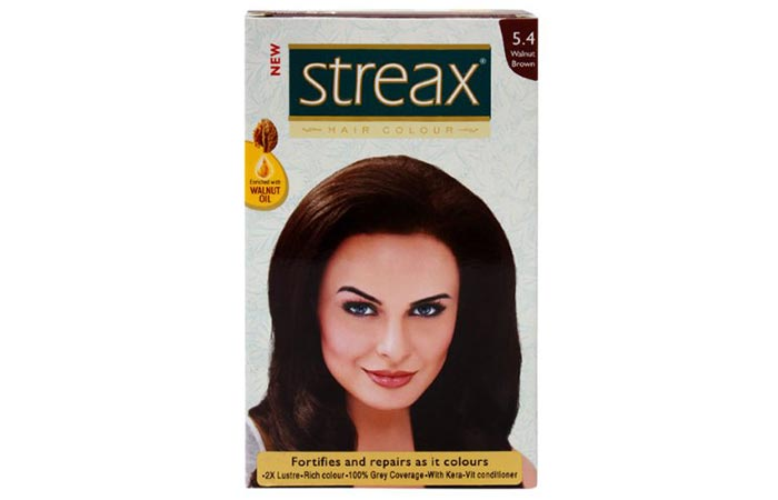 4. Streax Walnut Brown 5.4 Hair Colour