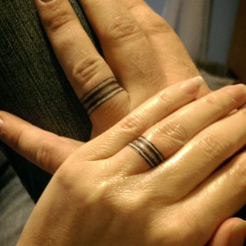 Wedding Ring Tattoo Motives Romantic Ideas For Married Couples