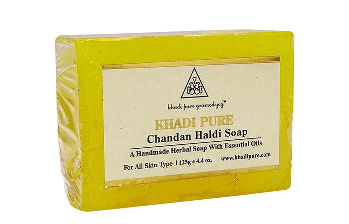 5. Khadi Haldi Chandan Soap