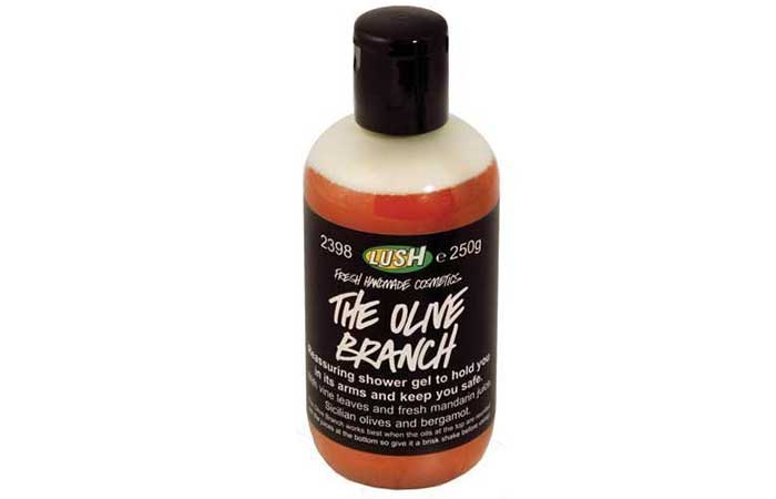 5. Lush Cosmetics The Olive Branch Shower Gel