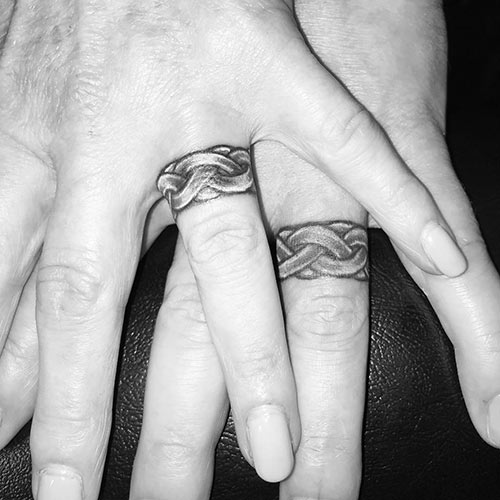 White Wedding Ring Tattoos: 18 Lovely Wedding Ring Tattoos That Symbolize Your Love