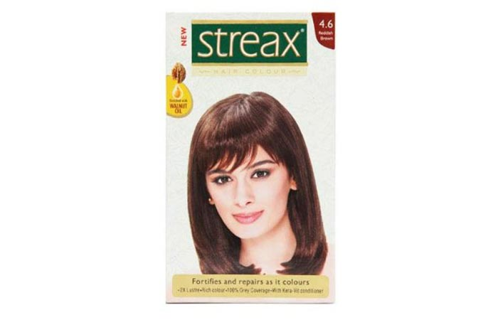 6. Streax Red Brown 4.6 Hair Color